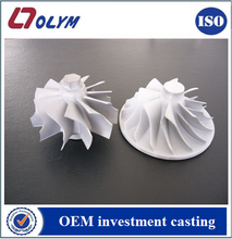 Custom stainless steel fan impeller with lost wax casting te